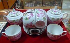 Арт 136-14 Чайный сервиз, фарфор, Вербилки, 14 предметов. 3000 рублей