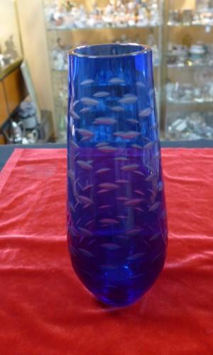 Арт 35-17 Ваза для цветов, синие стекло двухслойное. 1980 год. 2350 рублей