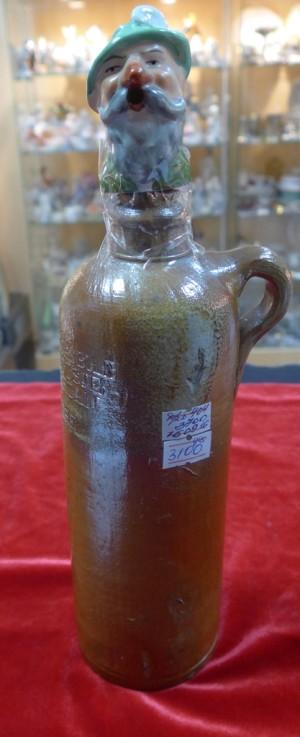Арт 404-16  Бутылка глиняная с пробкой. конец 19 века. Германия.  3700 рублей