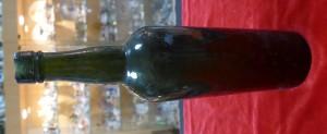 Арт 549-15  Бутылка темно-зеленое стекло. 19 век. 1350 рублей