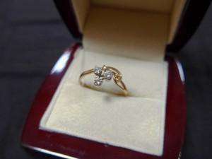 Арт 64-17 Кольцо с бриллиантами, 585 проба, размер 18, масса 1.98 гр. 18.500 рублей