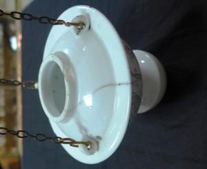 Арт 496-15 Лампадка, 2-я половина 19 века фарфор, скол, 1200 рублей