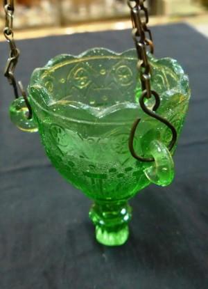 Арт 117-16 Лампадка, зеленое стекло, скол,   1500 рублей