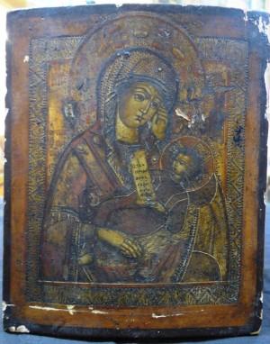 """Арт 10-16 Икона """"Утоми мои печали"""" Богородица. 19 век, 10.700 рублей"""
