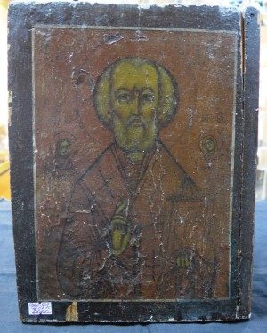 Арт 369-16 Икона Николая чудотворца, начало 20 века век, 6000 рублей