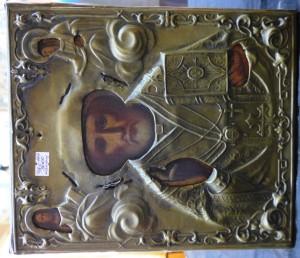 Арт 389-16 Икона Николая чудотворца, латунь. 3000 рублей