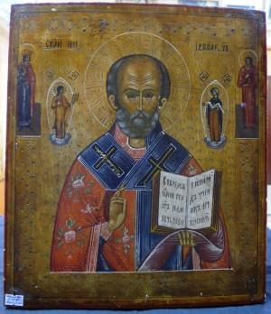 Арт 92-17 Икона Николая чудотворца. 19 век 53.000 рублей