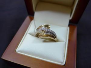 Арт 379-16 Кольцо с бриллиантами, 750 проба, размер 18, масса 4.38гр. 19.500 рублей