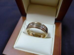 Арт 133-13 Кольцо с бриллиантами, 585 проба, размер 21, масса 12.91гр. 23.500 рублей