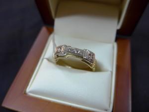 Арт 270-15 Кольцо с бриллиантами, 750 проба, размер 19,5 масса 5.14гр. 16.500 рублей