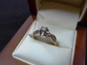 Арт 447-16 Кольцо с бриллиантом, 585 проба, размер 18, масса 2.92гр. 10.000 рублей