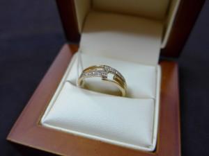 Арт 257-13 Кольцо с бриллиантами, 750 проба, размер 18, масса 3.63гр. 10.000 рублей