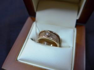 Арт 94-16 Кольцо с бриллиантом, 585 проба, размер 16, масса 5.20гр. 11.000 рублей