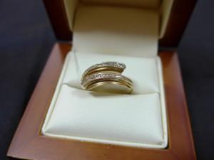Арт 444-16 Кольцо с бриллиантами, 585 проба, размер 17, масса 3.29гр. 6500 рублей