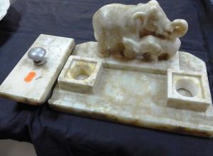 Арт 254-17 Письменный набор из мрамора. 4000 рублей