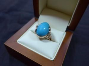 Арт 79-15 Кольцо с бирюзой, 585 проба, размер 18 масса 7.2 гр. 21.600 рублей