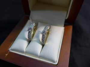 Арт 272-17 Серьги с  бриллиантами, 585 проба, масса 3.52гр. 27.000 рублей