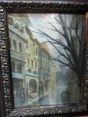 Арт 356-17 Картина городской пейзаж, бумага, акварель. 1917 год. 20.000 рублей