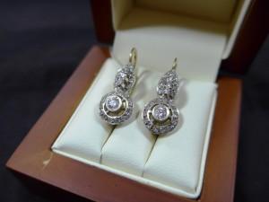 Арт 350-17 Серьги с бриллиантами, 585 проба, масса 7.44гр. 40.000 рублей