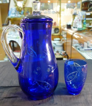 Арт 396-17 Кувшин и стакан, стекло. 4500 рублей