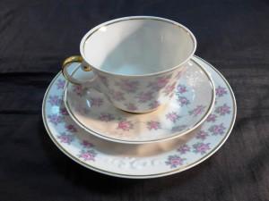 Арт 63-16 Чайная пара + тарелка десертная. Рига.  1500 рублей