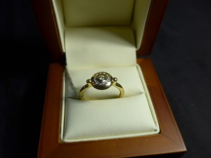 Арт 21-17 Кольцо с бриллиантами, 750 проба, размер 17.5 масса 4.87гр. 21.000 рублей