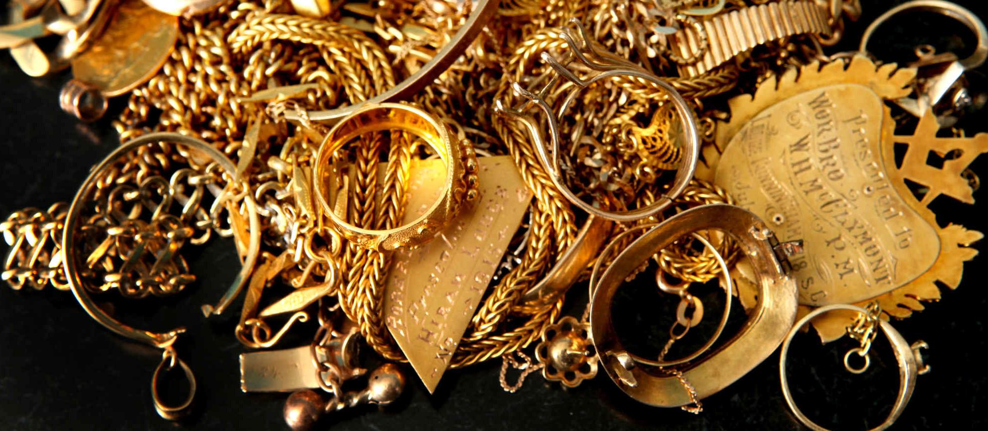 антикварные изделия из золота