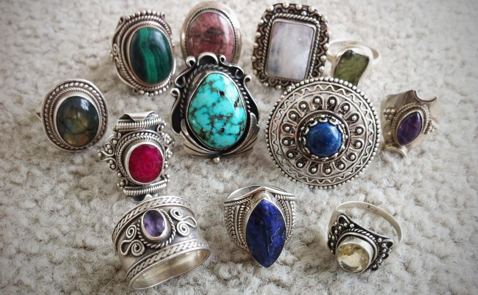 Серебряные кольца - антиквариат