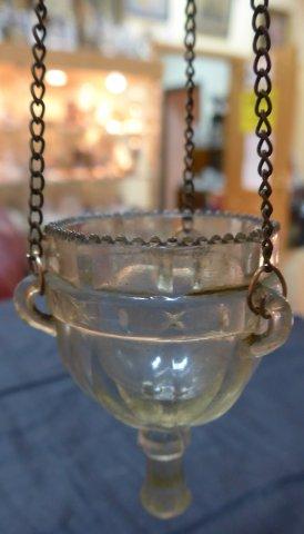 Арт 493-15 Лампадка из стекла, начало 20 века. 2700 рублей