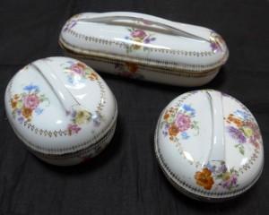 Фарфоровый набор для умывания из трех предметов, Европа начало 20 века. 10.000 рублей