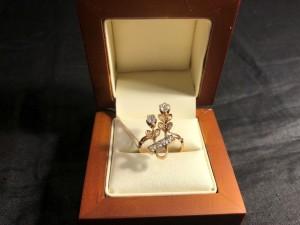 Арт 270-19 Кольцо с бриллиантами, 56 проба, размер 17,5 масса 3.54 гр. 93.400 рублей