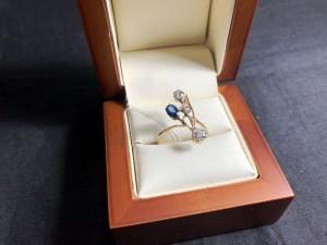Арт 3-21 Кольцо с бриллиантами и изумрудам, 56 проба, размер 18,5, масса 1.91 гр. 60.500 рублей