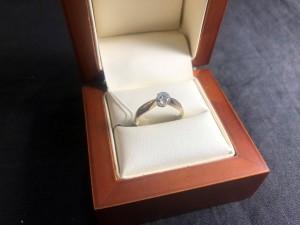 Арт 62-21 Кольцо с бриллиантом, 56 проба, размер 17.5, масса 2.49гр. 35.000 рублей