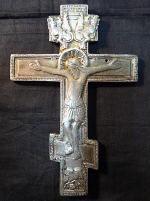 Арт 45-16 Распятие, белый металл.  5600 рублей