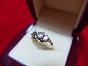 Арт 103-15 Кольцо с бриллиантами, 56 проба, размер 18, масса 18.6 гр. 120.000 рублей
