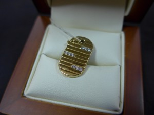 Арт 70-17 Кулон с бриллиантами, 750 пробы, масса 4.60гр 17.000 рублей