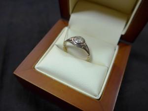 Арт 187-17 Кольцо с алмазами, 56 проба, размер 17, масса 2.10гр. 150.000 рублей