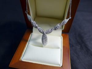 Арт 276-17 Колье с бриллиантами, 585 проба, масса 7.33 гр. размер 45, 30.000 рублей